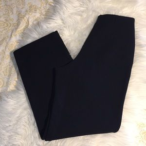 Lauren Ralph Lauren Pants - Wide Leg Navy Flat Front Sailor Knit Trouser SP